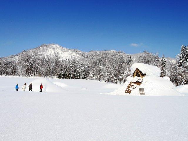 雪の縄文ムラ